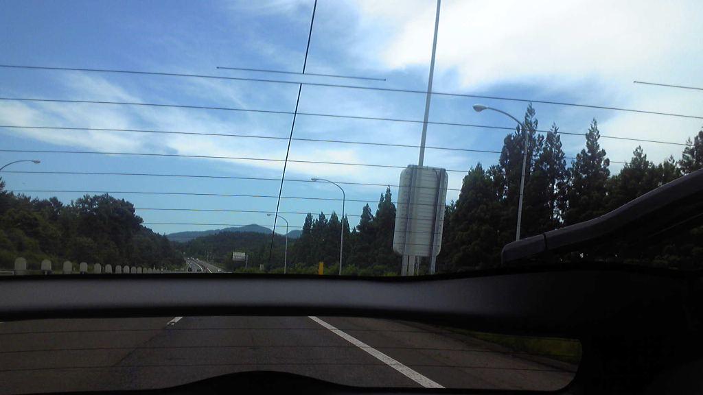 岩手県の岩手山周辺は、午後に青空か広がり〜出張も快適。